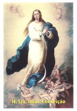 Santinhos de Oração Nossa Senhora da Conceição