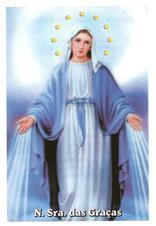 Santinhos de Oração Nossa Senhora das Graças - Mod. 01