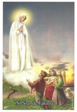 Santinhos de oração de Nossa Senhora de Fátima