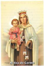 Santinhos de ora��o de Nossa Senhora do Carmo