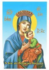 Santinhos de Oração Nossa Senhora do Perpétuo Socorro