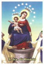 Santinhos de Ora��o Nossa Senhora do Ros�rio