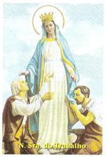 Santinhos de Oração Nossa Senhora do Trabalho