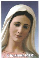 Santinhos de Ora��o Nossa Senhora Rainha da Paz