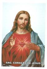 Santinhos de Ora��o Sagrado Cora��o de Jesus