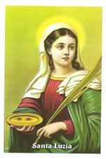 Santinhos de Oração Santa Luzia