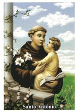 Santinhos de ora��o de Santo Ant�nio