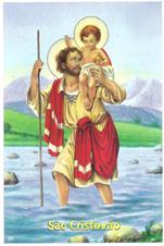Santinhos de Oração São Cristovão