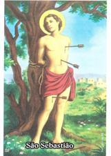 Santinhos de Oração São Sebastião