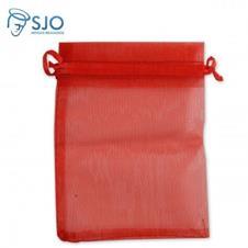 50 Saquinhos de Organza 8 x 12 - Vermelho
