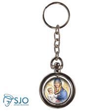 Chaveiro Redondo Girat�rio - Nossa Senhora da Sa�de