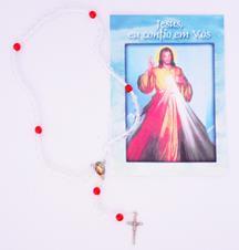 Terço com folheto Misericórdia com Cordão