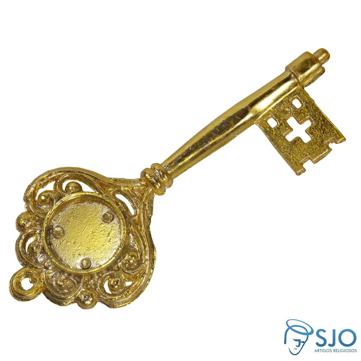 Chave dourada personalizada 14 cm sjo artigos for Llave de regadera no cierra
