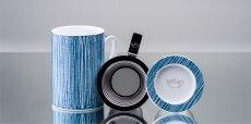 Mug Cylinder Texturas Azul