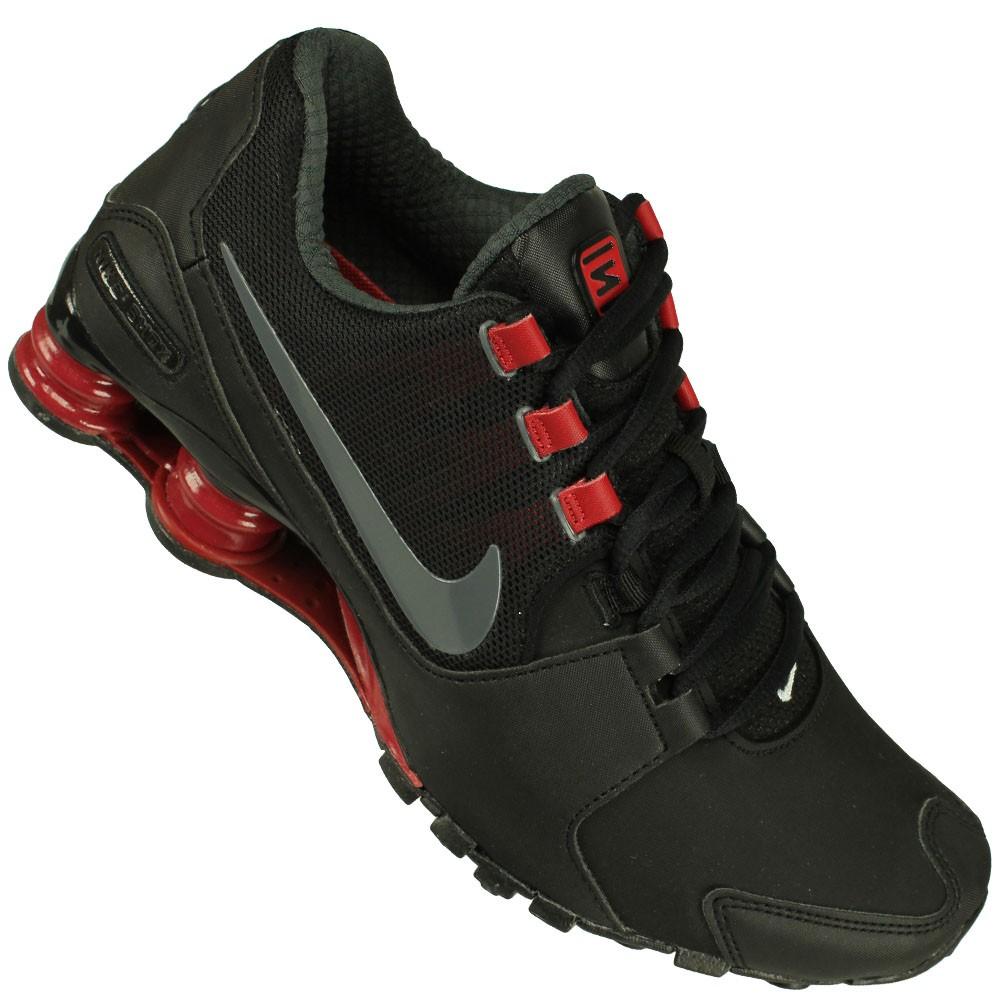 new arrivals 8dd12 aea38 Tênis Nike Shox Avenue Ltr Original Garantia+ Nf Tênis Preto nike shox  junior vermelho claro ...