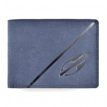 Carteira Masculina Couro Legítimo Nobuck Textura Jeans Mormaii 3241-100