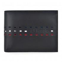 Carteira Masculina em Couro Leg�timo Fasolo Recortes com 3 cores K497-004