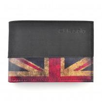 Carteira Masculina FASOLO em Couro Leg�timo Nobuk - Detalhe Inferior - Bandeira Inglaterra K585-067