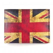 Carteira Masculina Pequena em Couro Leg�timo FASOLO Estampa Bandeira Inglaterra - K588-067
