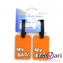 Identificador De Bagagem Mala Mochila Tag - Par - Tonin 5028