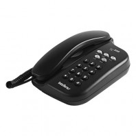 TELEFONE TC 500 PRETO - FUN��ES FLASH, MUTE, PAUSE, REDIAL -SINALIZA��O DE LINHA: PULSO E TOM