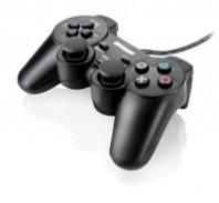 Joypad Multilaser Playstation 2 Preto Dual Shock JS043
