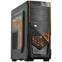 Gabinete Gamer PCYes Java Mid Tower Sem Fonte com LED