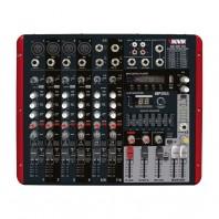 Mesa de Som Amplificada Novik Nvk-800p Usb com 8 Canais 600w Rms