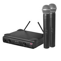 Microfone Sem Fio De M�o Leson Dual Uhf Ls-802 Ht/Ht