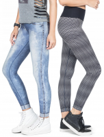 Calça Legging Live Reversible Washed City Jeans