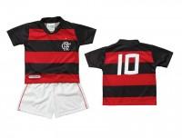 Conjunto Torcida Baby Micro Dry Sublimado Flamengo