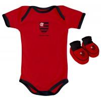 Kit Torcida Baby 2 Peças Body Colorido Flamengo