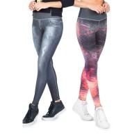 Legging Live Dupla Face Dark Street Jeans