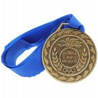 Medalha De Aço 43 Mm Pangué De Bronze