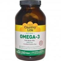 Omega-3 Country Life 1000mg