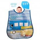 Babador Impermeável com Bolso estampa de ônibus - Clingo - 041730