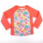 Blusa com estampa de flamingo e flores - Everly - 041544