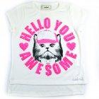 Blusa com estampa de gato - Animê