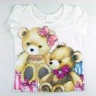 Blusa manga curta com estampa de ursinhos - 040218 - Pituchinhus