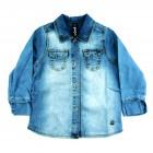 Camisa Jeans Estonada Animê Petite - 036126