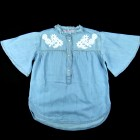 Camisa Jeans Guippir Cristais Pituchinhu's - 033306