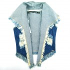 Colete Alongado Jeans Animê - 036063
