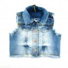 Colete Jeans Animê Petite - 036123