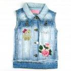 Colete Jeans com bordados - 040270 - Pituchinhus