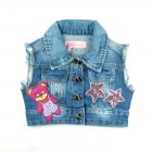 Colete Jeans Rasgado Pituchinhu's - 038112
