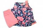 Conjunto bata e shorts com estampa floral - Tilly Baby - 040537