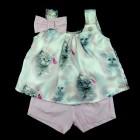 Conjunto Bata Gatinha e Shorts Anjos Baby - 035115
