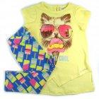 Conjunto blusa e legging com estampa de gato - Animê