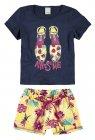 Conjunto blusa e shorts - Malwee - 039637/041520