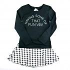 Conjunto Blusa em Cotton e Saia em Jacquard Vic Vicky - 036460